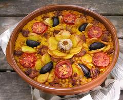 Mandala comestible (Arròs al forn)