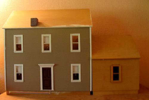 """Exterior Thirties House  -- 1"""" Scale House"""