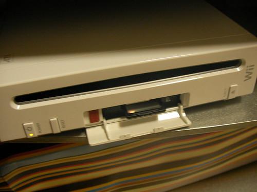 WiiにSDカードをさす