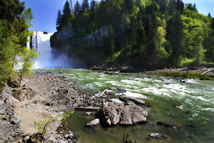 Snoqualmie Falls (Todd C. Yates) Tags: trees nature photoshop river outdoors washington nikon rocks hiking falls sharpen snoqualmiefalls washingtonstate snoqualmie actions greenwater cs3 deepforest sharpening dodgeandburn waterpools sharpphoto nikond3000 snoqualmiecasino toddcyates