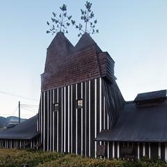 LAMUNE ONSEN (LAMUNE HOT SPRING HOUSE), Terunobu Fujimori, Taketa Ōita, Jul. 2005 (wakiiii) Tags: japan architecture nikkor 建築 f4 1224 s5 s5pro nikkor1224mmf4gifed