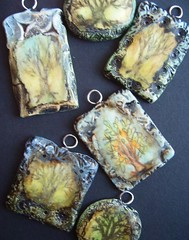 New forest (gabriel studios) Tags: original tree art drawing jewelry clay etsy pendant polymer gabrielstudios michelegabriel