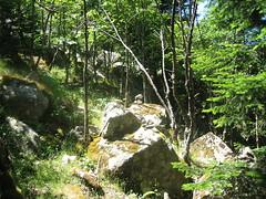 Traversée retour Apaseu - Funtanella : lignes de cairns (au moins 3 lignes à différentes altitudes !)