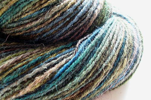 Kettle dyed Jacob Humbug 1- 3.5oz by Shunklies- 323yds navajo plied-2