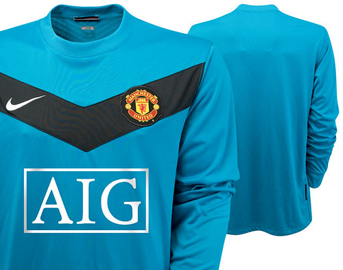 Manchester United 2009/10 away goalkeeper jersey