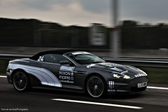 Gumball 3000: Bordercrossing  | EXPLORED | (Thomas van Rooij) Tags: lighting street roof light sunset wallpaper dutch car race speed dark photography grey cool nikon highway open power thomas rally border engine automotive front racing explore exotic hood belgian headlight grille nikkor rim rims panning 3000 luxury speeding vr gumball astonmartin volante cabriolet v12 18105 60l carbonfibre lightweight gumball3000 d90 explored rooij thomasvanrooij