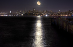 Moon Over San Francisco (Matt Granz Photography) Tags: sanfrancisco california city longexposure moon skyline night nikon moonrise nikkor fortbaker 55200 d90 afvr theunforgettablepictures