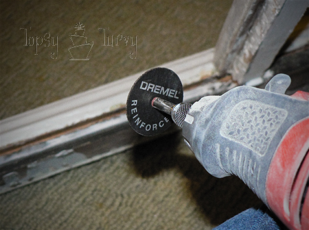 old window table tutorial craft dremel reinforced wheel