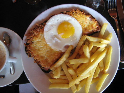 Croque Madame at Cafe Mabillion, Paris