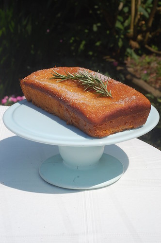 Orange & Rosemary drizzle cake