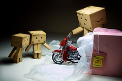 048/365:  Rolling Out A Red Hot Harley! (Randy Santa-Ana) Tags: red toys gift harleydavidson motorcycle danbo gf1 project365 danboard minidanboard minidanbo 365daysofdanbo