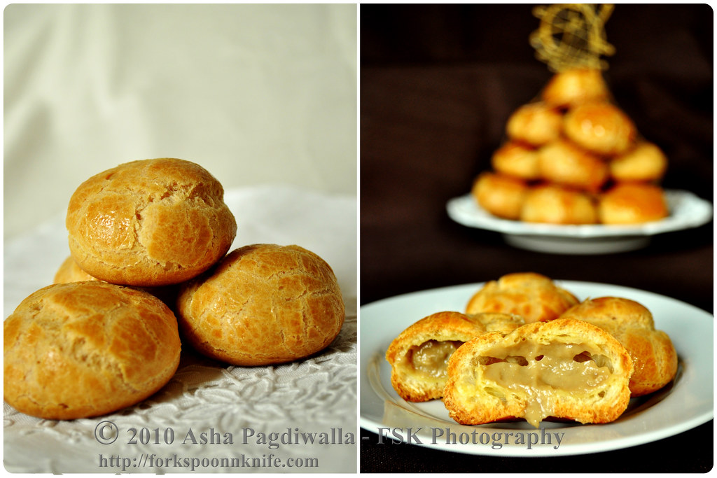 Pate Choux whole and filled
