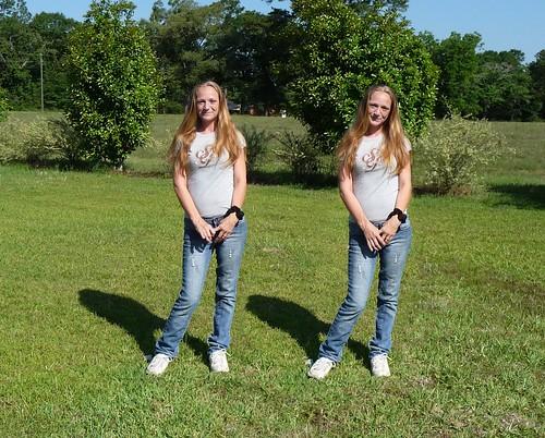 Amanda as twins