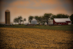 Inside A Dream (Mona Hura) Tags: red wisconsin barn landscape living countryside im farm feel dream like silo land inside glimpse caught 9400 nevermore i