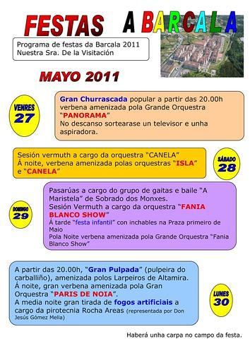 Cambre 2011 - Festas da Barcala - cartel