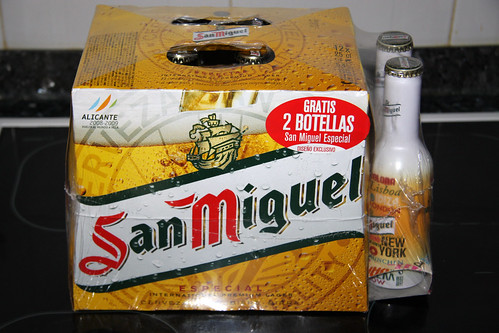 San Miguel 12-Pack with Novelty Bottles