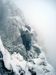 Pinnacle (Scuola di Atene) Tags: snow ice scotland ridge climbing will cameron glencoe 06 aonacheagach 060109