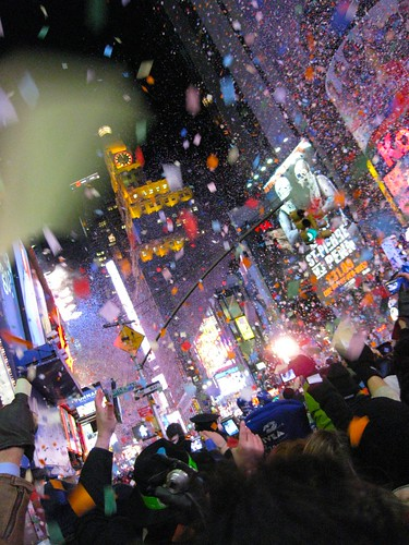 Times Square on New Year's Day