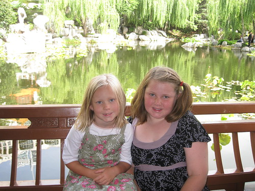 At the Chinese gardens