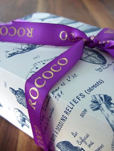 rococo box with ribbon