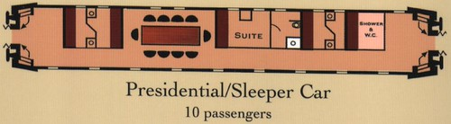 Train Chartering - Classic Presidential Sleeper Car, Central Europe
