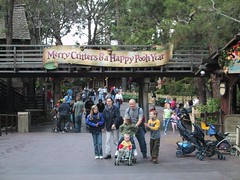Merry Critters & a Happy Pooh Year (klvinci) Tags: 2005 california christmas sign anniversary disneyland critter year country disney pooh anaheim 50th
