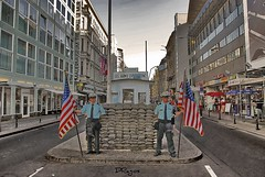 Checkpoint Charlie as tourist attraction in Berlin