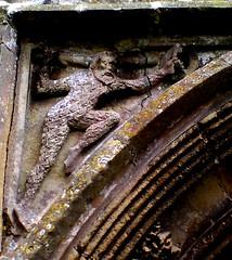 Cratfield Wild Man (robin.croft) Tags: church stone dragon carving wildman spandrel cratfield woodwose