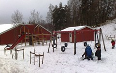 Children play in snow in Norway #6