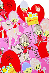 Boopsie Valentines (boopsie.daisy) Tags: camera pink red holiday cute art ice apple pose hearts stand doll tears day candy heart sweet cone handmade crying cream inspired adorable kitsch valentine lemonade deer caramel homemade fawn bow daisy valentines handdrawn boopsie boopsiedaisy