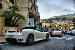 Ferrari F430 Spider in Monaco (Martijn Kapper) Tags: old spider place sony ferrari du casino monaco porsche rolls parked carlo monte gt alpha martijn royce a100 carrera f430 kapper autogespot autospotting