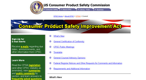 Consumer Product Safety Improvement Act