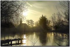 Ce matin, soleil blanc et gel ...
