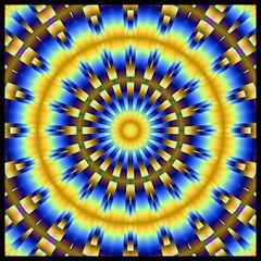 "Warp Factor ""K"" (Lyle58) Tags: blue abstract color geometric yellow circle design colorful pattern kaleidoscope mandala symmetry zen harmony reflective symmetrical balance circular kscope kaleidoscopic kaleidoscopes kaleidoscopefun kaleidoscopesonly lyle58 amazingeyecatcher"