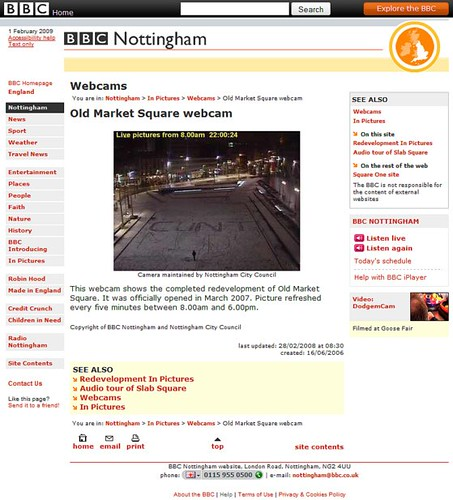 BBC - Nottingham - In Pictures - Old Market Square webcam_1233530496085