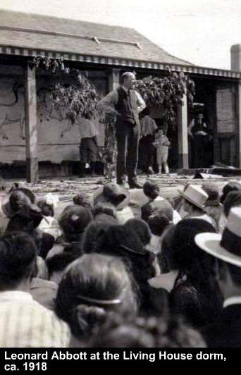 Leonard Abbott-Stelton dorm ca. 1918