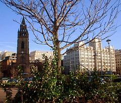A short section of Liverpool's 'Strand' (* RICHARD M (Over 6 million views)) Tags: england architecture liverpool buildings europe cities cityscapes churches seafront scousers thestrand stnicholaschurch merseyside capitalofculture2008