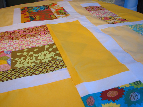 yellow quilt top