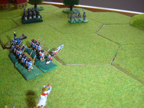 D'Erlon leads the attack to drive back the Prussians