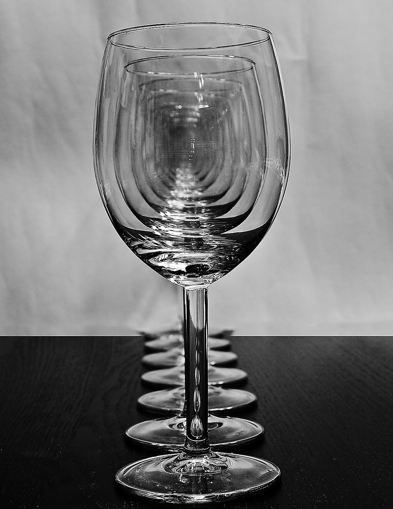 Wine Glasses - In a row
