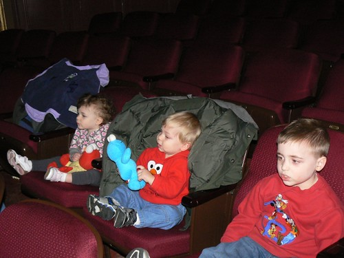 The three cousins wait for the show