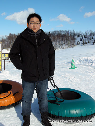 Me with my green sled