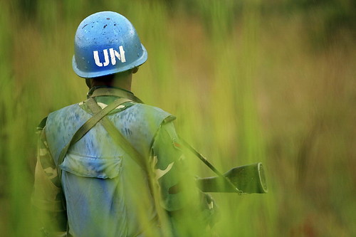 Monuc-Soldat im Kongo: Mittendrin im Krieg (Foto: UN Photo, CC)