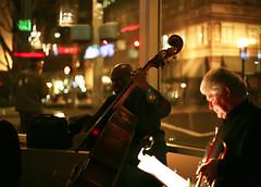 Cafe Jazz (wild table) Tags: life night oregon portland cafe downtown bass guitar trumpet jazz clarinet doublebass mellophone saxiphone cafejazz livingroomtheater larrymunson andrestjames larrynobori rickhomer