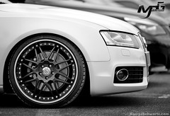 Carbon Fiber Wheels on an S5 (Barry J. Schwartz) Tags: blackandwhite bw nikon bokeh barry f2 carbon audi schwartz carbonfiber s5 200mm f20 d700 carbonfiberwheels 200f2vr millerperformancegroup mpgmotorsports barryjschwartz