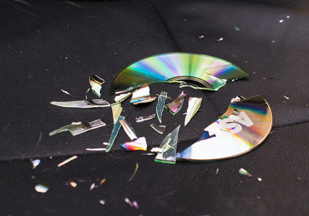 CD's don't bend, they shatter