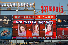 The Washington Nationals have opened up voting for the new co-host at Nationals Park