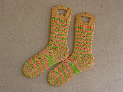 Sweet Lime Monkey Sock