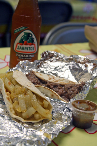 Taco Carb Overload at Pan y Vino