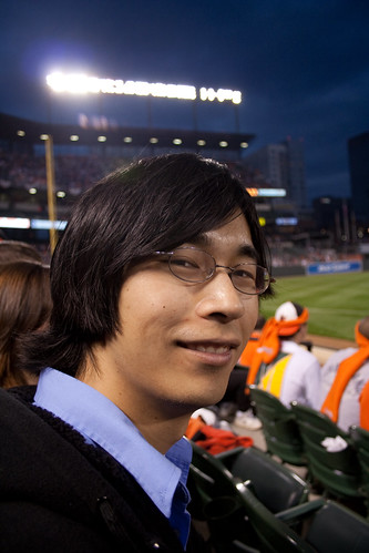 Min at his first ever baseball game